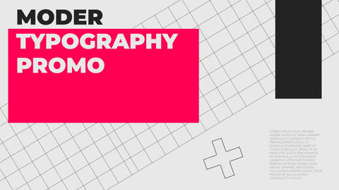 Moder Typography Promo After Effects Template