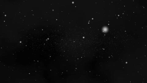 Flight Through Space 2 - forward - Dark Sky Animation