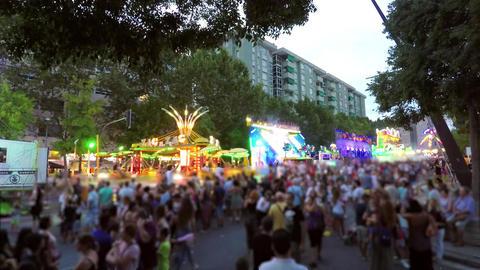 Summer Night Activities Fair With Lights Footage