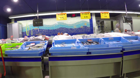 Fishmarket Indoors Footage