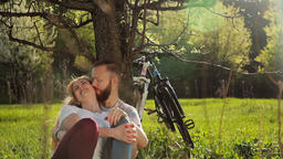 Beautiful couple of cyclists Footage