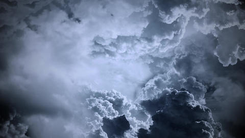 Flight Through Clouds - Dark Sky Animation