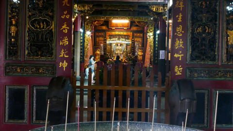 Incense sticks inside Hsinchu Cheng Huang temple Footage