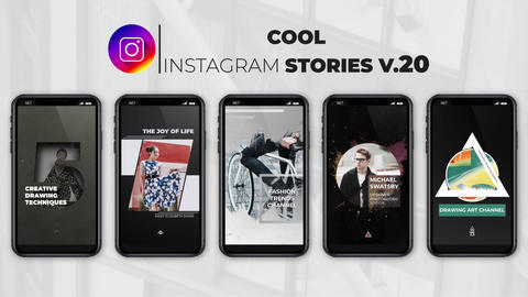 Cool Instagram Stories v 20 After Effects Template