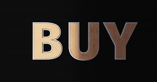 Buy. 3D Promotion Intro. Gold Text Logo Animation