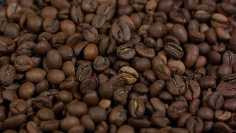 Close up pattern of coffee beans, Can use for background Footage