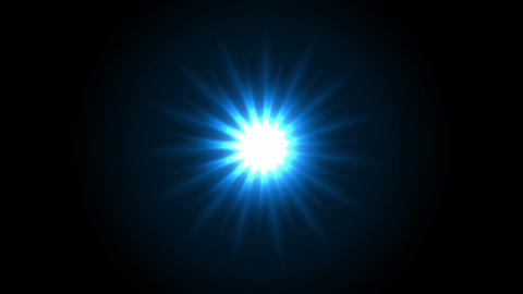 Blue glowing star beams abstract motion design Animation