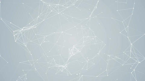 Plexus abstract network white technology science background loop 09 CG動画素材