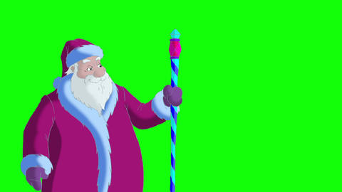 Santa Claus blowing snow Animation