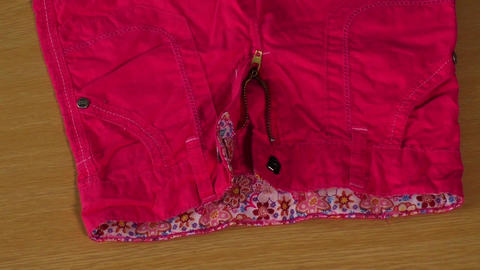 Cotton elegant children's trousers for summer Footage