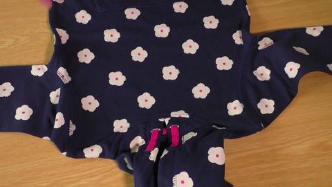 Children's wear. Children's jacket with hood Footage