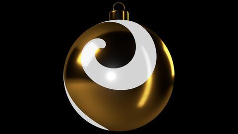 Gold Spiral Christmas Ball Animation