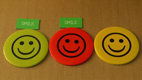 Smile icon. Symbol of happiness, success, good mood and life satisfaction Footage