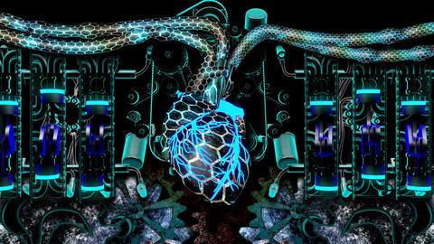 Techno Heart 4K 03 Vj Loop Animation