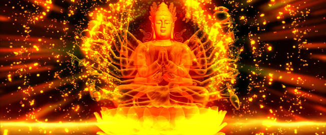 China Wind Buddha golden background LED video material Footage