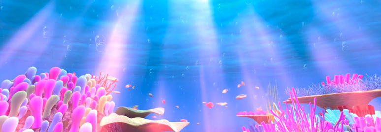 Beautiful atmosphere fantasy underwater animation creature stage children background video Animation