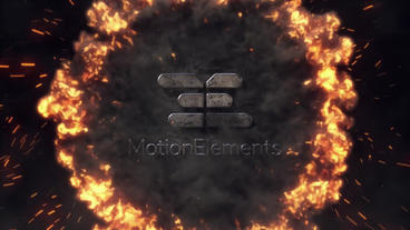 Epic Fire Logo After Effects Template