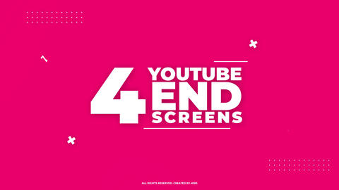 Youtube End Screens 4K V1 Apple Motion Template