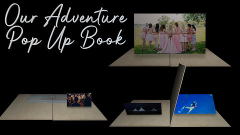 Our Adventure Pop Up Book for FCPX Apple Motion Template