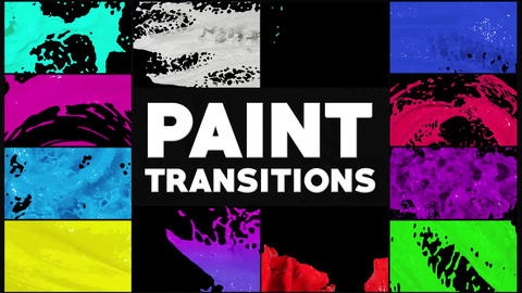 Dynamic Paint Transitions Motion Graphics Template