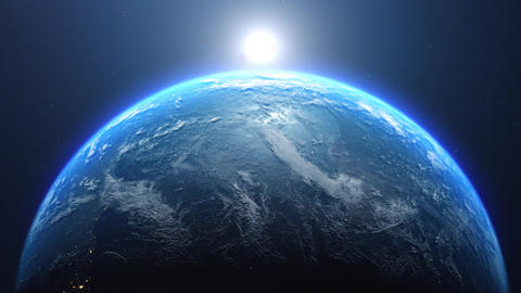 earth view from space view sunrise view earth planet space planet sunrise planet earth Animation