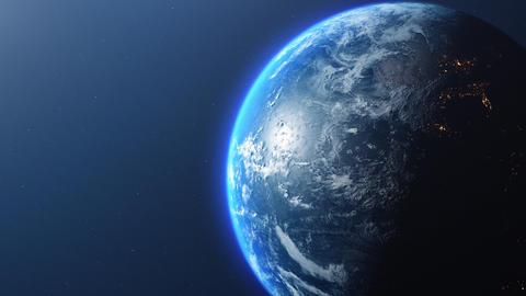 View earth rotating planet rotating zoom rotating earth spinning planet spinning zoom Animation