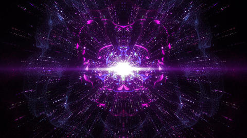 SHA Abstract mirror Image BG Violet Animation