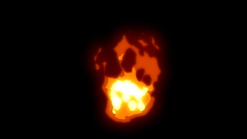 Cartoon effect fire 01 Animation