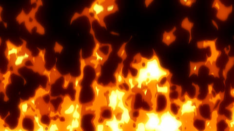 Cartoon effect fire 08 CG動画