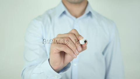 Business To Business, Writing On Screen Stock Video Footage