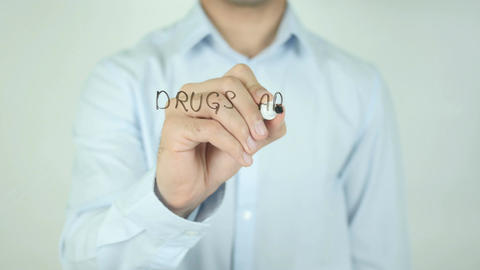 Drugs Are Not The Answer, Writing on Screen Footage