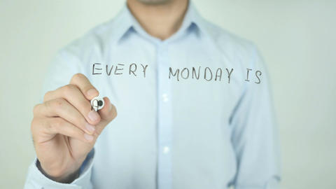 Every Monday is a new chance, Writing On Transparent Screen Stock Video Footage