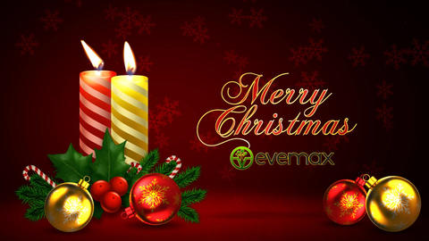 Merry Christmas Candles Wishes After Effects Template