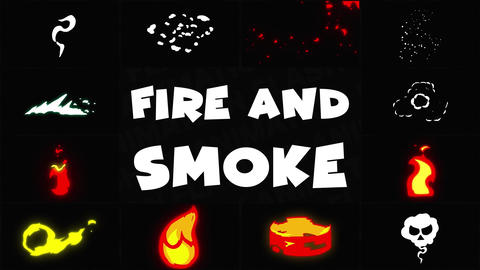 Fire And Smoke Pack 01 Motion Graphics Template