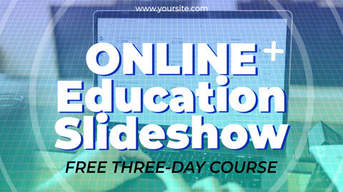Online Education Slideshow After Effects Template