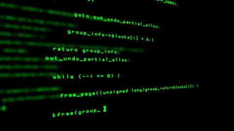 Computer Hacker Code Animation