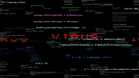 Virus Hacker Code Animation
