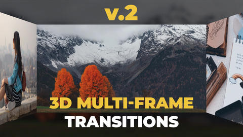 3D Multi-Frame Transitions v2 After Effects Template