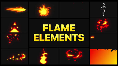 Flame Elements Apple Motion Template