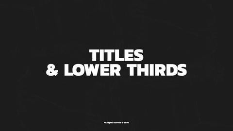 Modern Titles & Lower Thirds Motion Graphics Template