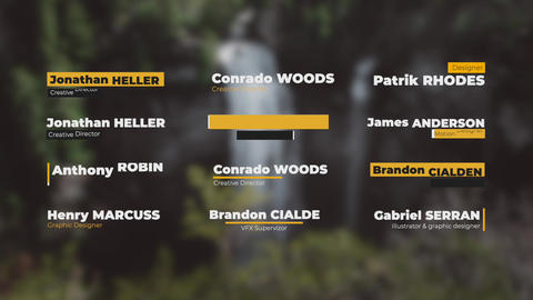 Simple Lower Thirds Motion Graphics Template