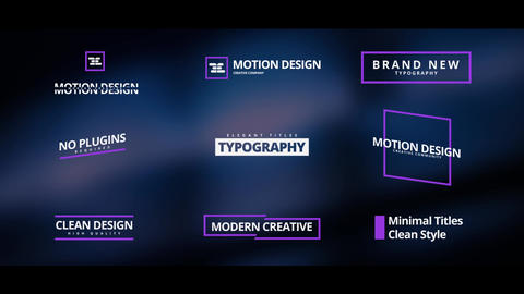 Elegant Titles After Effects Template