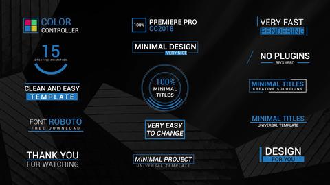 15 Minimal Titles Premiere Pro Template