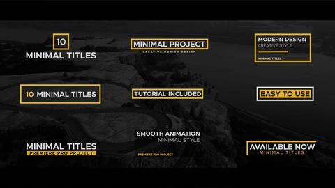 Minimal Titles Pack Premiere Pro Template