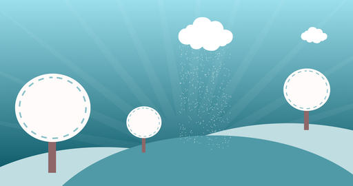 Kid Winter background Animation