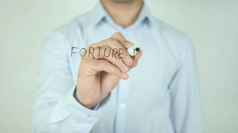 Fortune Favors The Bold, Writing On Transparent Screen Footage