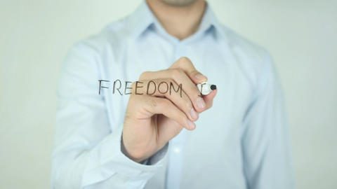 Freedom is a State of Mind, Writing On Transparent Screen Footage
