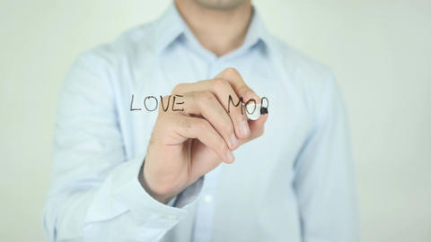 Love More Worry Less, Writing On Transparent Screen Footage