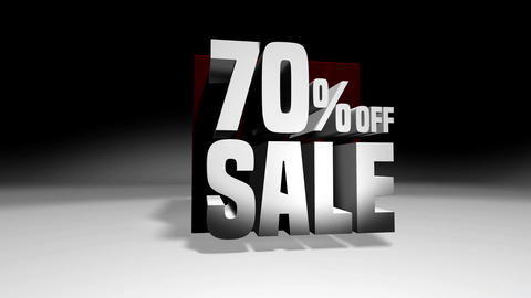 4K 60 fps loop. Black friday and cyber monday sale red cube 70 percent discount Animation