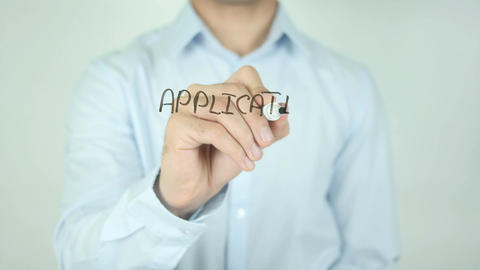 Application Development, Writing On Transparent Screen Footage